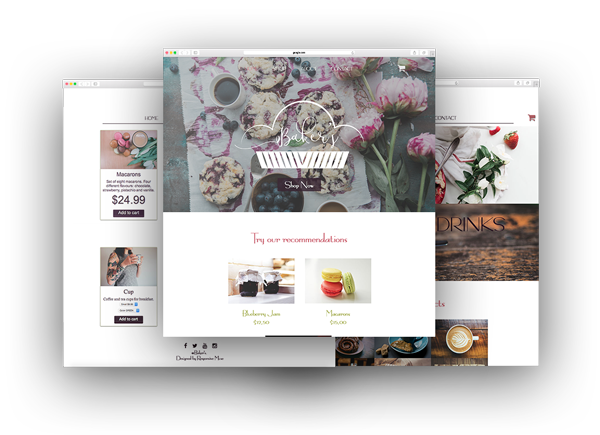 Online Shop Muse Template