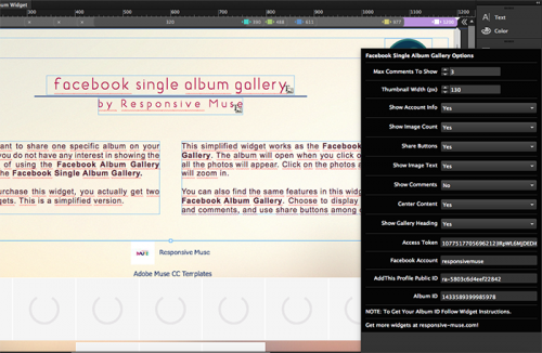 facebook-single-album-widget
