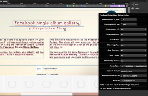 facebook-single-album-widget