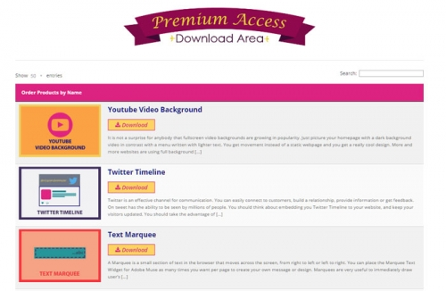 premium-acces-download-area