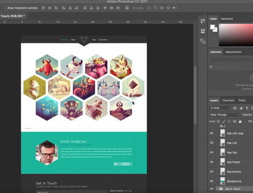 How to place your PSD template to Adobe Muse