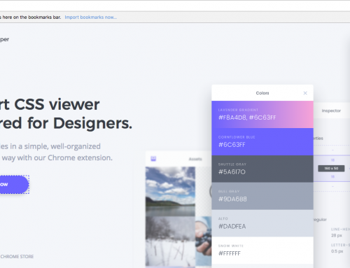 CSS Peepers: new tool for Web Designers