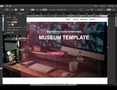 How to create a Responsive Muse Website in 15 minutes starting from a template