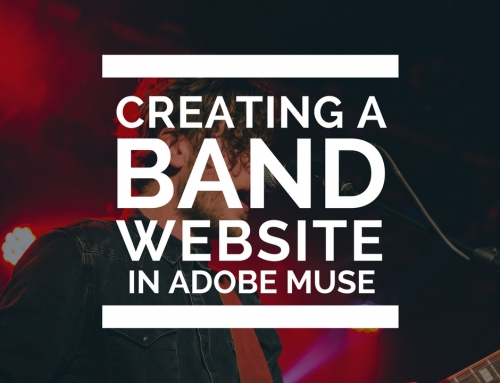 How to create a website for a Music Band in Adobe Muse