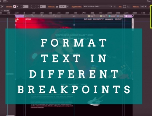 How to Format text in the different breakpoints in your Adobe Muse website