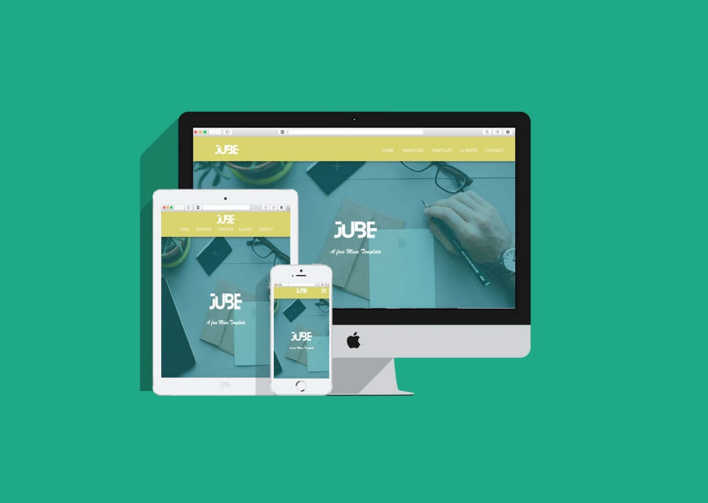 JUBE: Adobe Muse Responsive Free Template - Responsive Muse ...