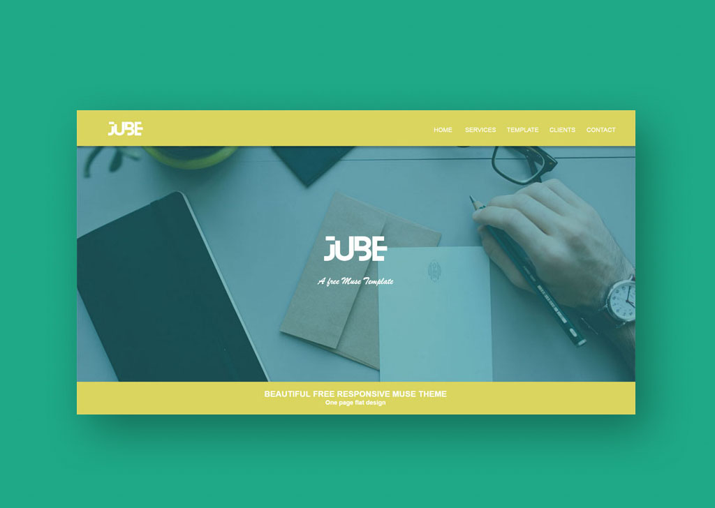 Jube Adobe Muse Responsive Free Template Templates Widgets