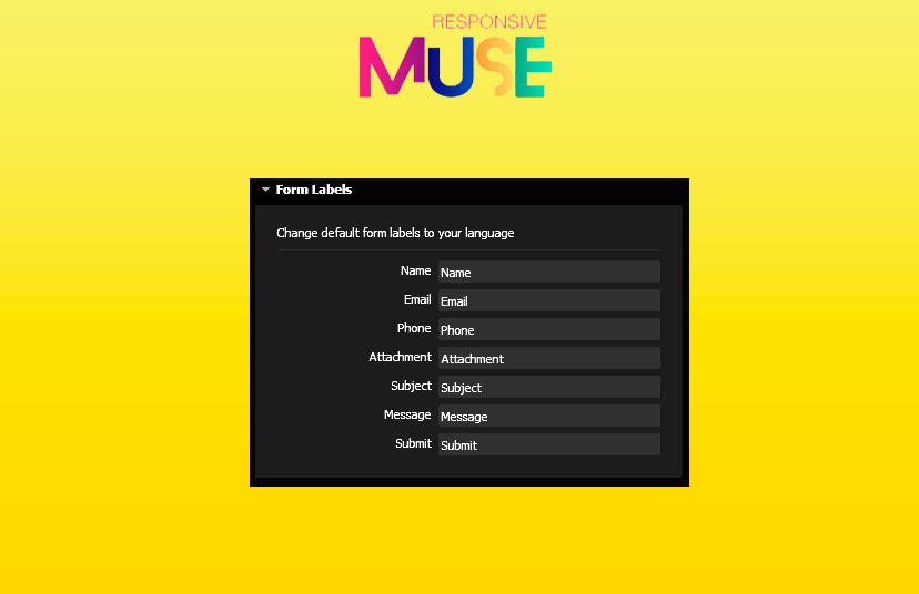 muse upload form - responsive muse