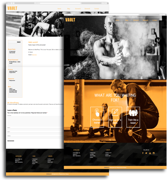 Subscription Page - Adobe Muse to Wordpress Template Converter