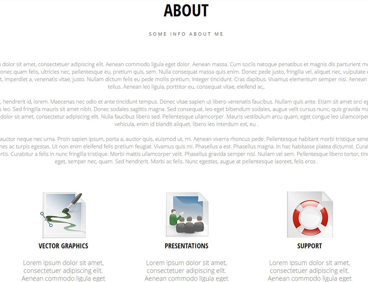 simple portfolio free - responsive muse
