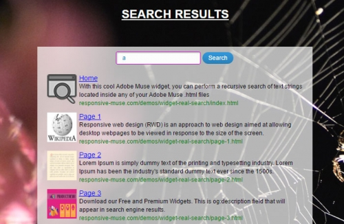 real-search-widget-demo