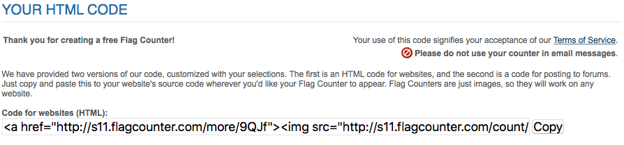 How to add a Free Flag Counter to your Adobe Muse Site - Responsive