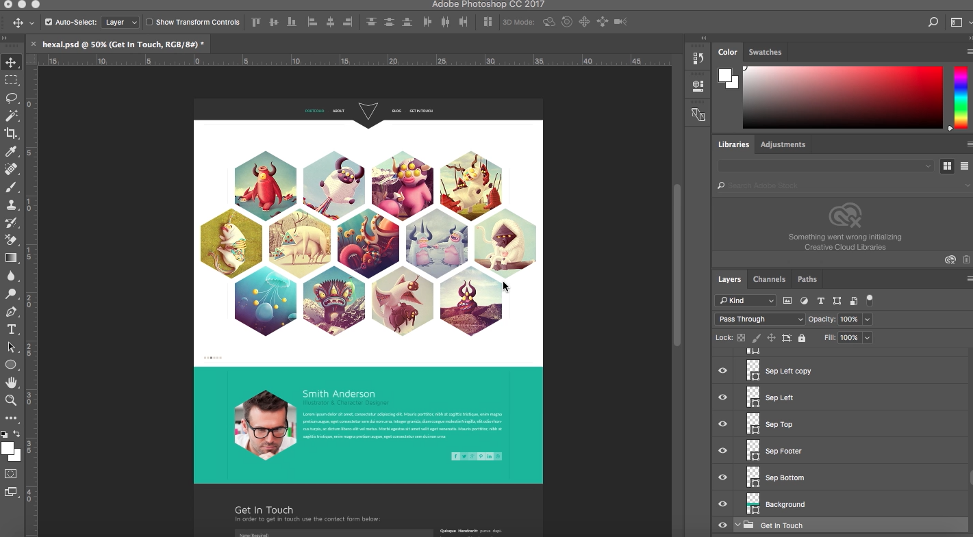 How To Place Your Psd Template To Adobe Muse Responsive Muse