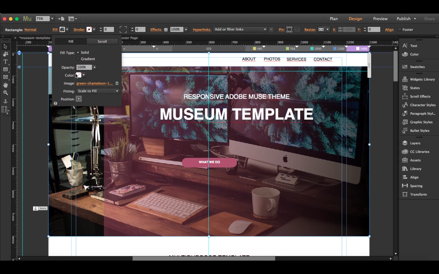 How To Create A Responsive Muse Website In 15 Minutes Starting From