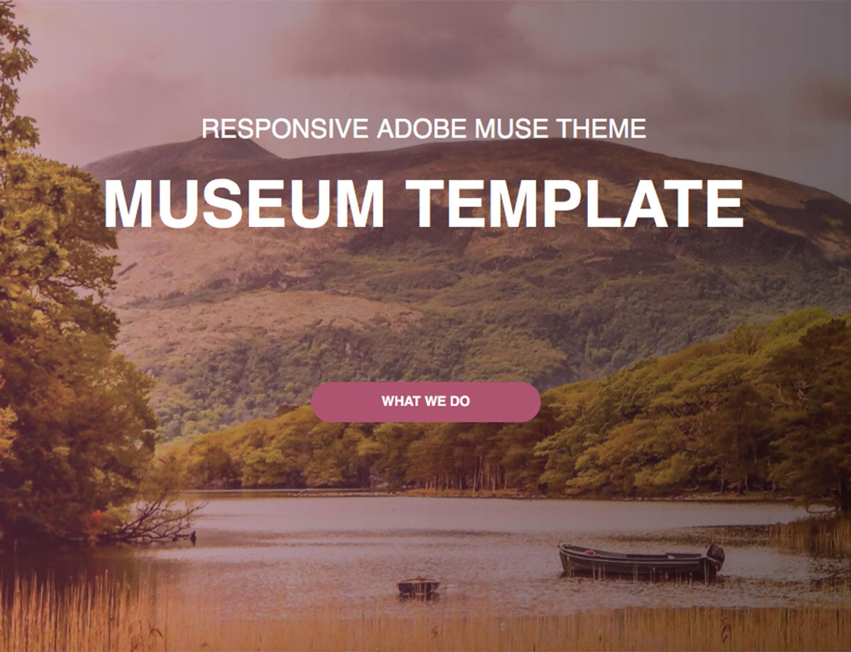 Museum One Page Template