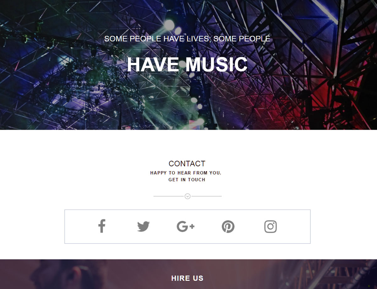 Band one page template responsive muse templates widgets pronofoot35fo Gallery