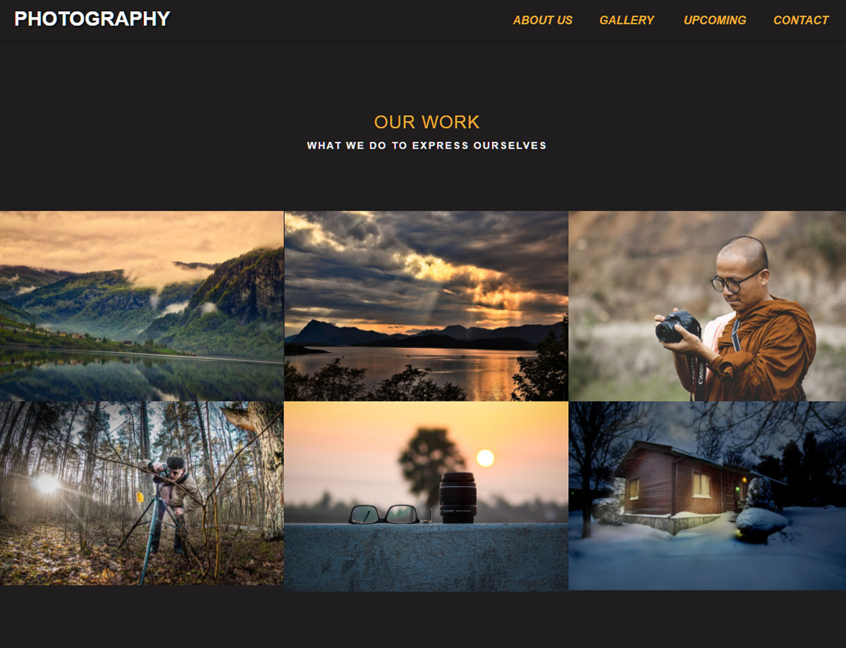 Photography template responsive muse templates widgets photography muse template 3 pronofoot35fo Images