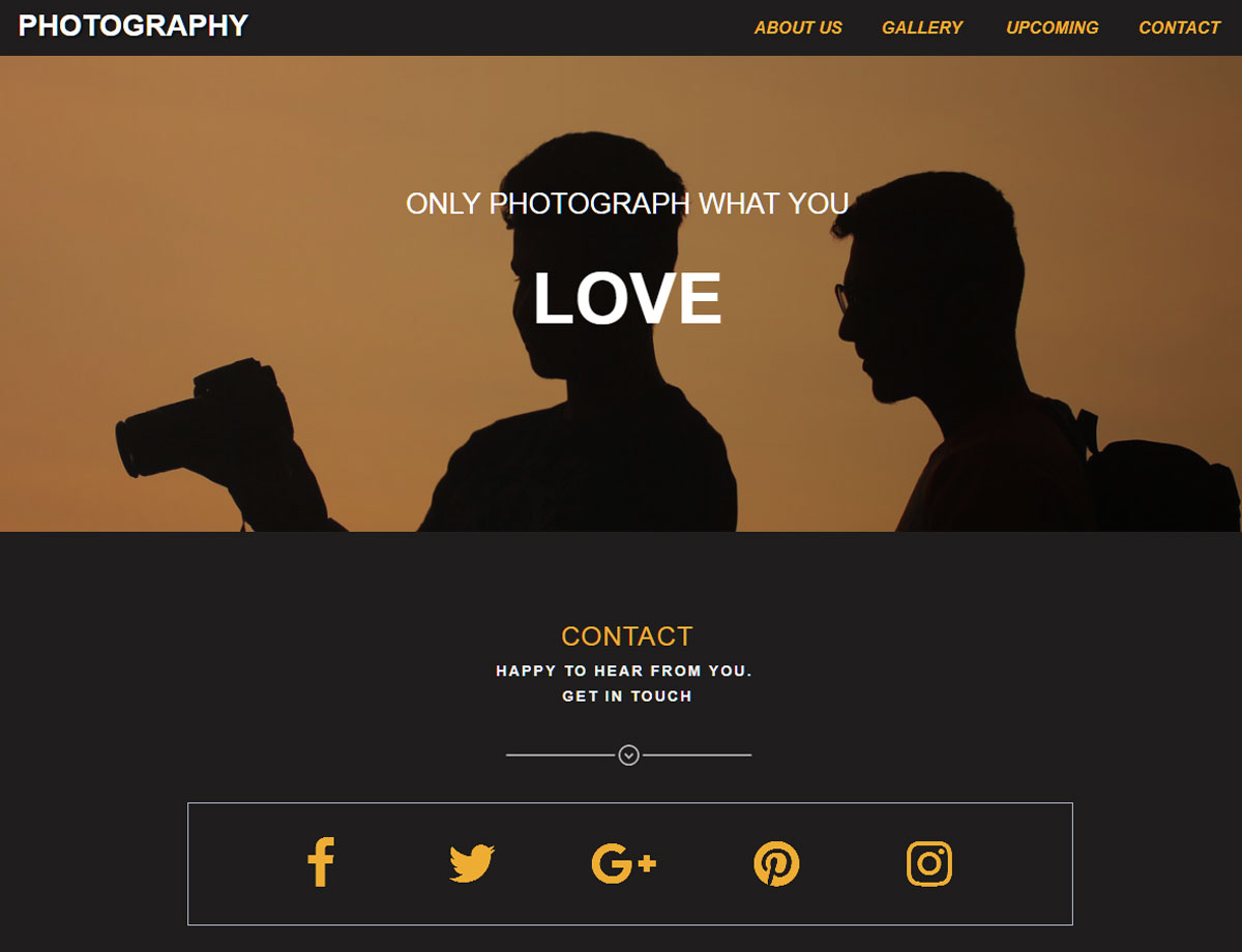 Photography template responsive muse templates widgets pronofoot35fo Images