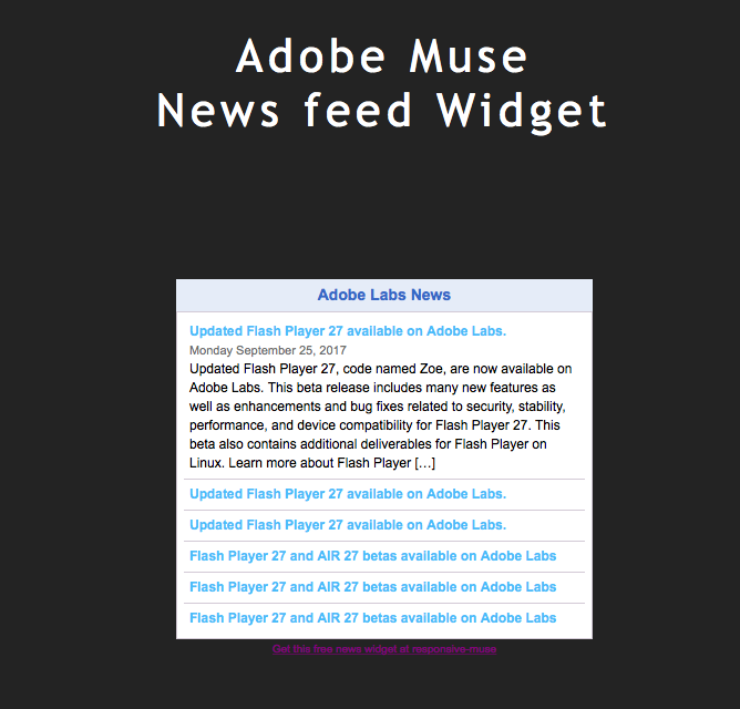 news-feed-muse-widget