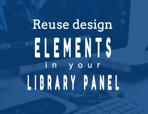 How to keep you common elements organized in Adobe Muse Library Panel
