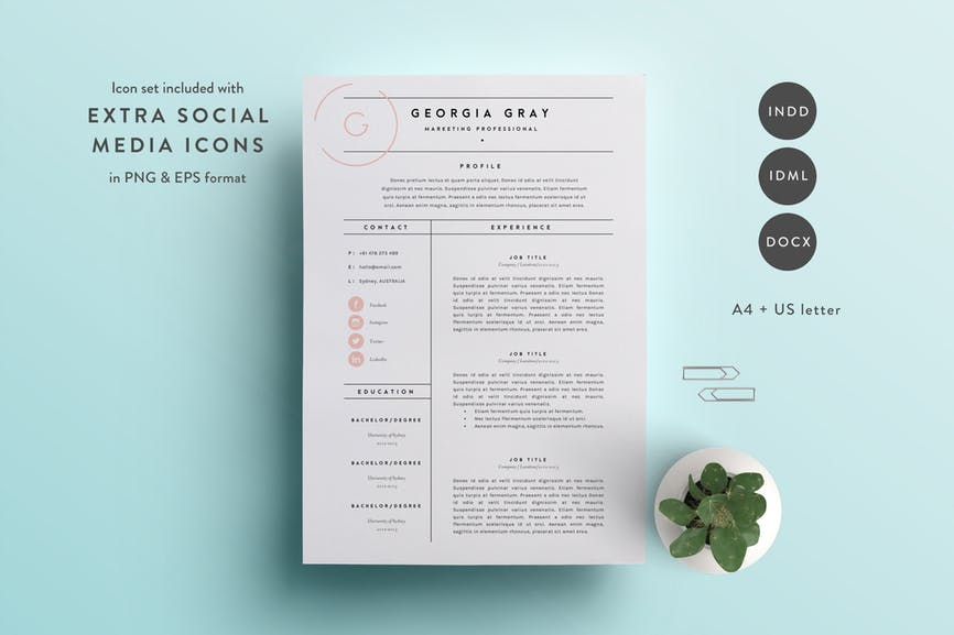 20 free resume word templates to impress your employer - responsive muse