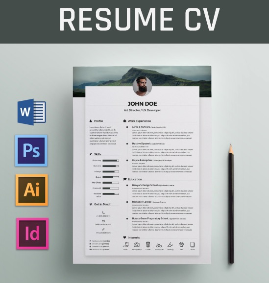 free resume word template 18 - Awesome free resume template with icons