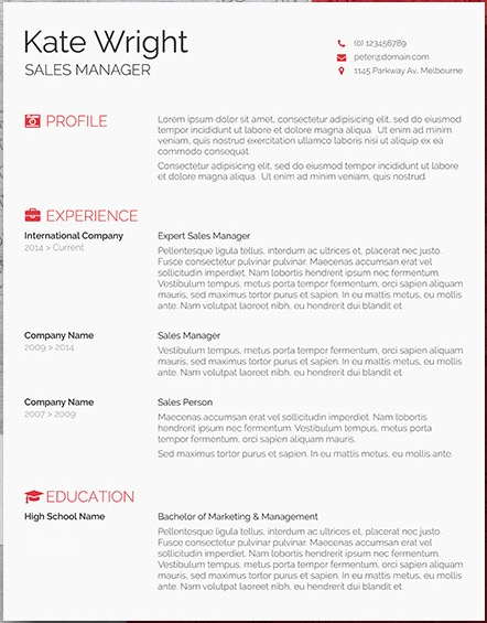 if you need something simple and basic but you want to add some icons to make it look more professionally designed the minimalist resume template is a - Free Resume Templates Word