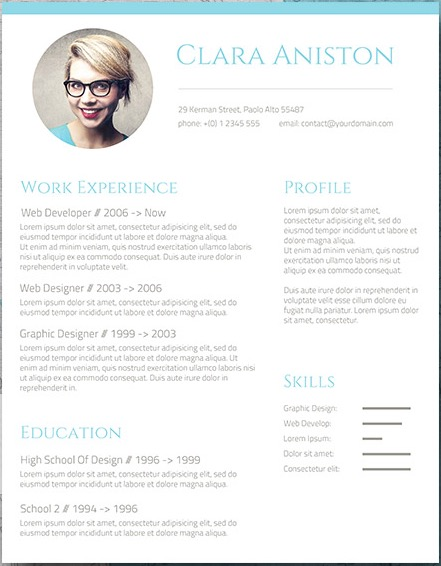 if you are bored of the classic black and white resume and you feel like adding some color this is your template